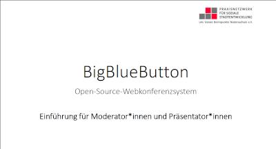 Moderator*innen Einführung BigBlueButton